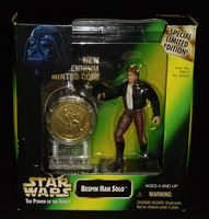 Star Wars POTF Millennium Minted Coin: Bespin Han Solo - Action Figure - Sealed in Box
